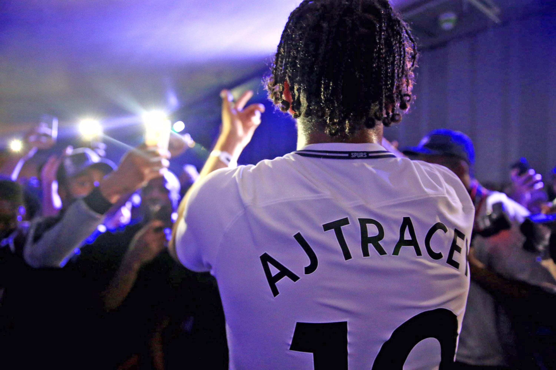 aj tracey unveiled tottenham hotspurs new kit at a secret