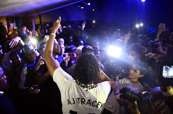 AJ Tracey Unveiled Tottenham Hotspur's New Kit at a Secret Gig with Nike