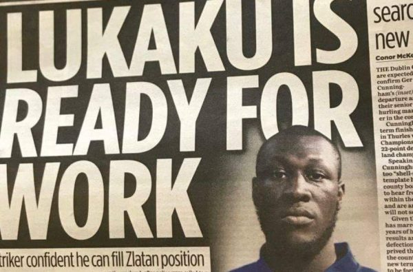 An Irish Newspaper Printed a Photo of Stormzy Thinking It's Romelu Lukaku