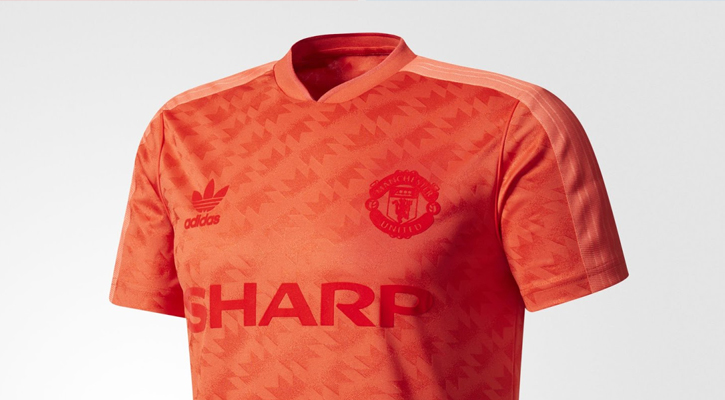 buy popular 200db 5ac7b adidas Originals Drop a Vintage Manchester United 2017/18 Jersey