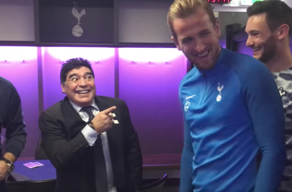 Diego Maradona Met Harry Kane and Gave Him Some Goalscoring Advice