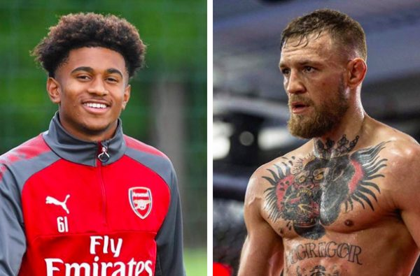 Arsenal's Reiss Nelson Calls Conor McGregor an Idol and Wants a Future in MMA