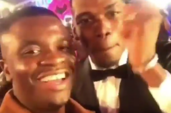 Paul Pogba Linked up with Big Shaq at the MTV Europe Music Awards