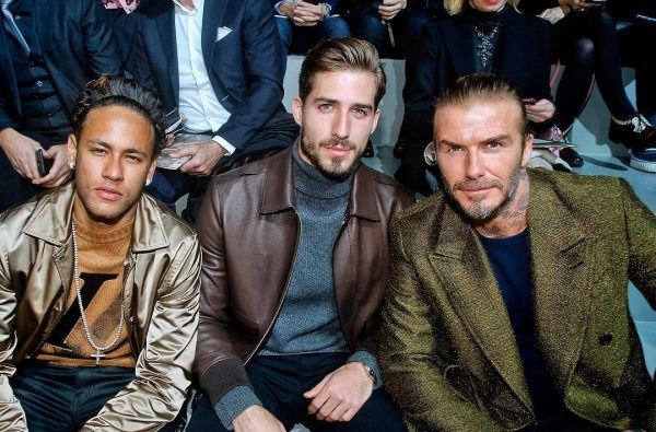 Neymar and David Beckham Hit Up Paris Fashion Week