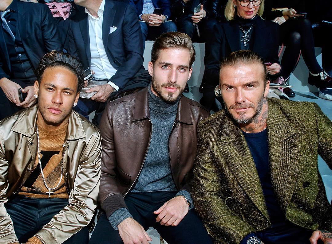 Neymar and David Beckham Hit Up Paris Fashion Week