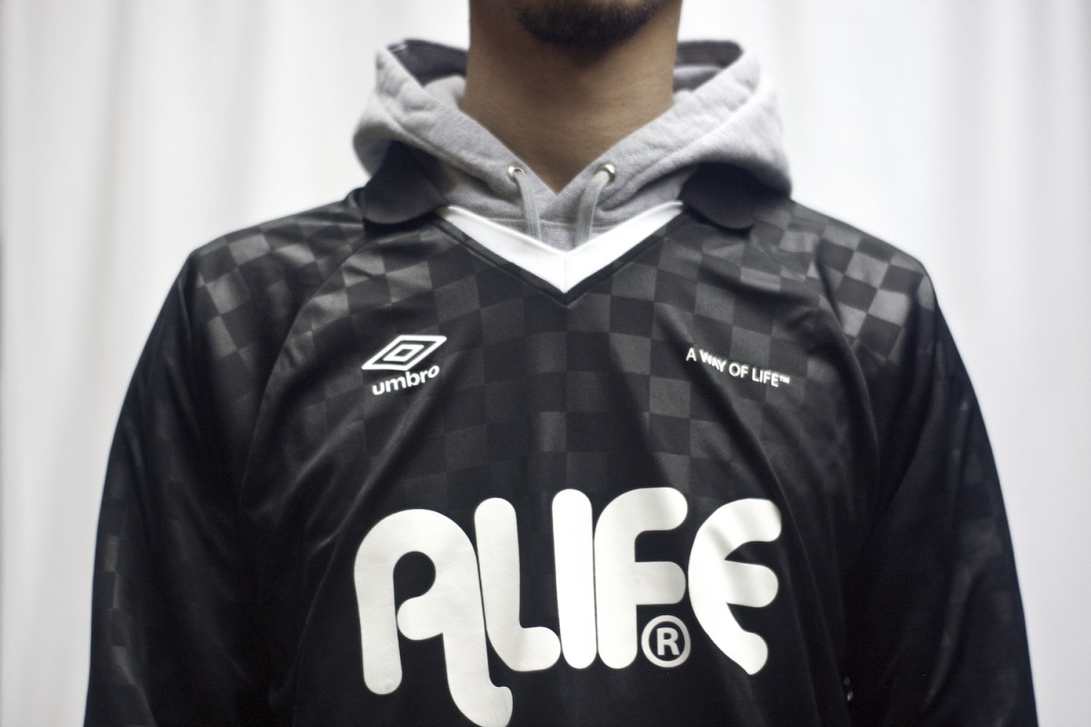 free shipping cd332 2727e Alife Links with Umbro on Limited Edition Long-Sleeve ...