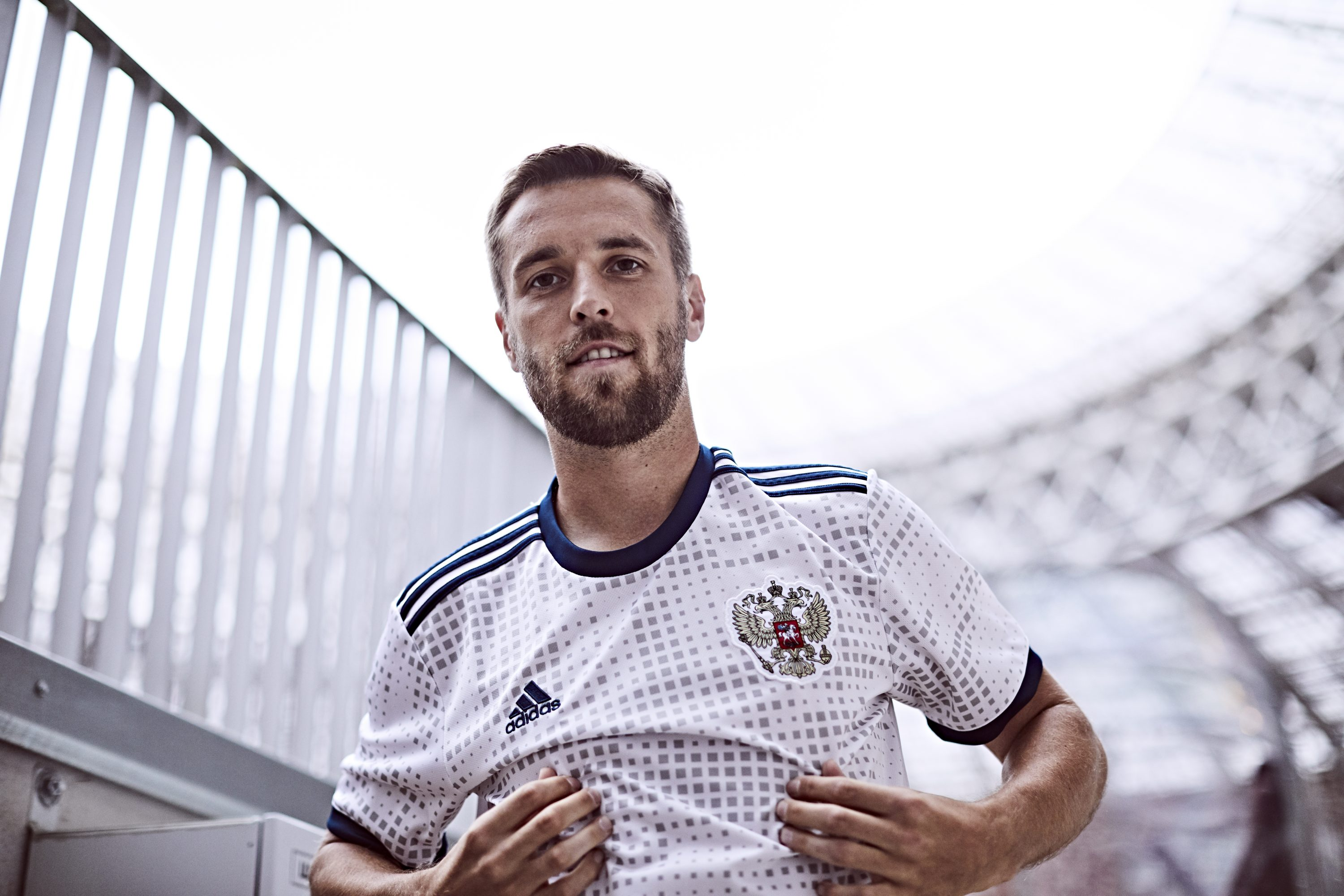 d326d87bb58 Mexico's away shirt, modeled by Javier Hernandez, is one of the more  stripped back kits on offer, featuring the Mexican national colours across  the chest ...