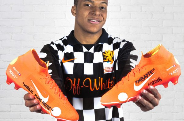 Kylian Mbappé Unveils the Limited-Edition Nike Mercurial Superfly 360 x Virgil Abloh Boot