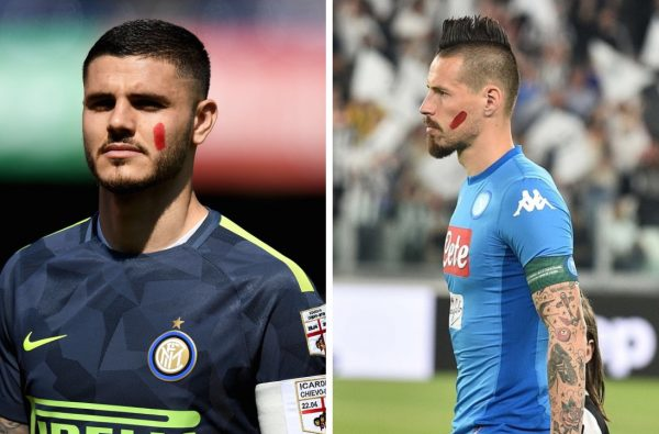 Icardi, Hamsik and Buffon All Wore Red Marks to Raise Awareness on Violence Against Women