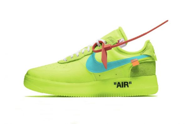 """The Off-White x Nike Air Force 1 Low Gets Charged Up in """"Volt"""""""