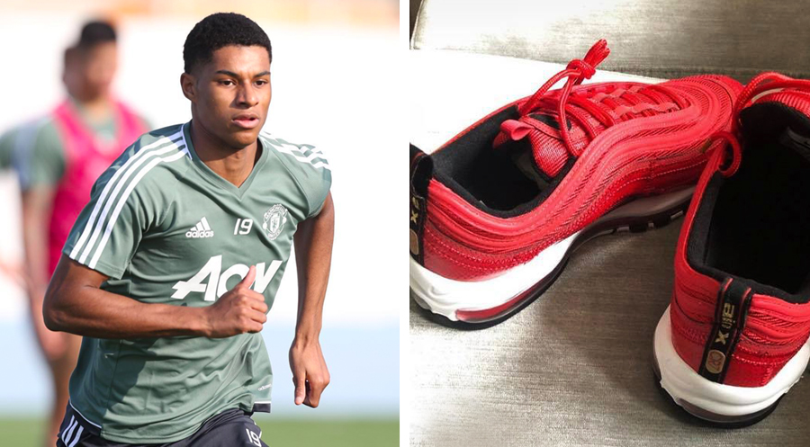 half off 2f768 1d93d Cristiano Ronaldo Gifted Marcus Rashford a Pair of His Nike Air Max 97 CR7