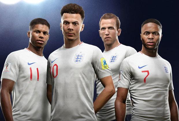 Rashford T- shirt Sterling Harry Kane ENGLAND 2018 Football Team Dele Alli