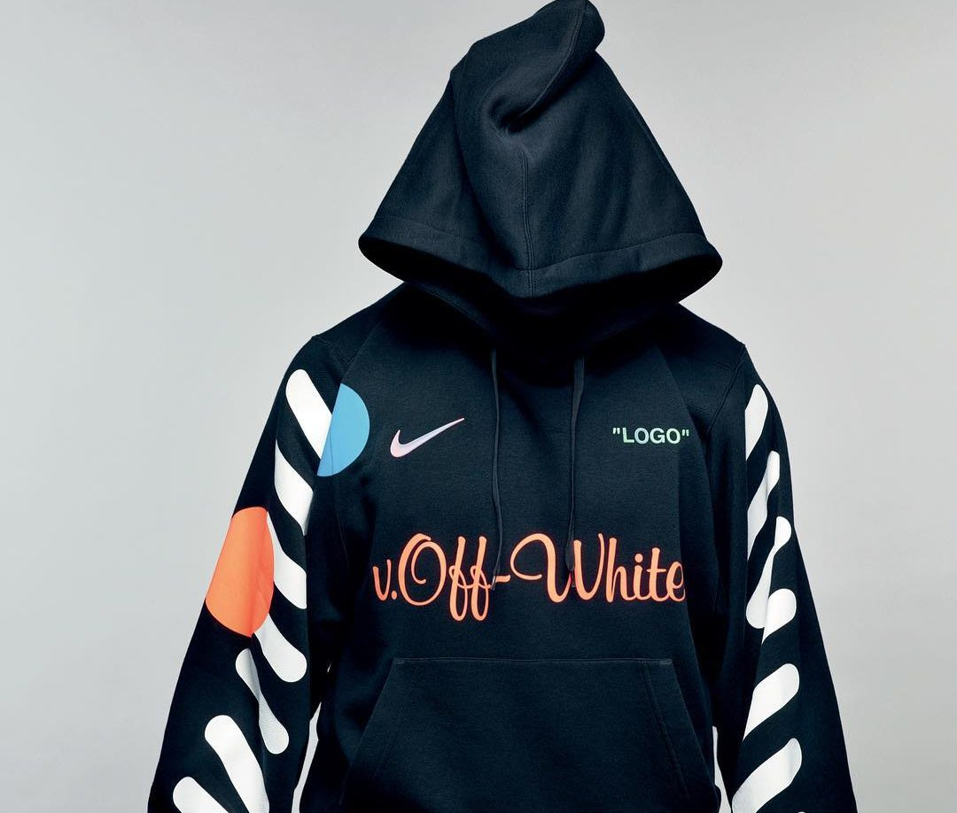 9c94a9e0aa47 Kylian Mbappe Unveils the Off-White x Nike Football Hoodie