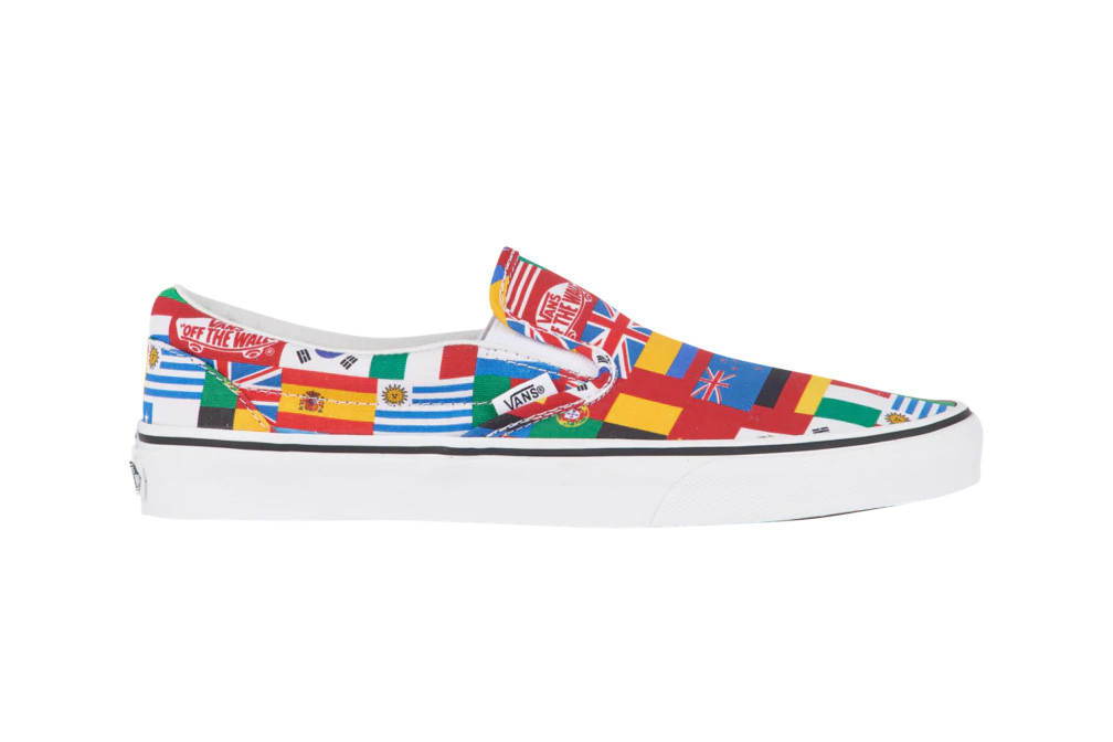 8aeda8ce483a Vans Celebrate the World Cup by Covering Their Classic Slip-On in  International Flags
