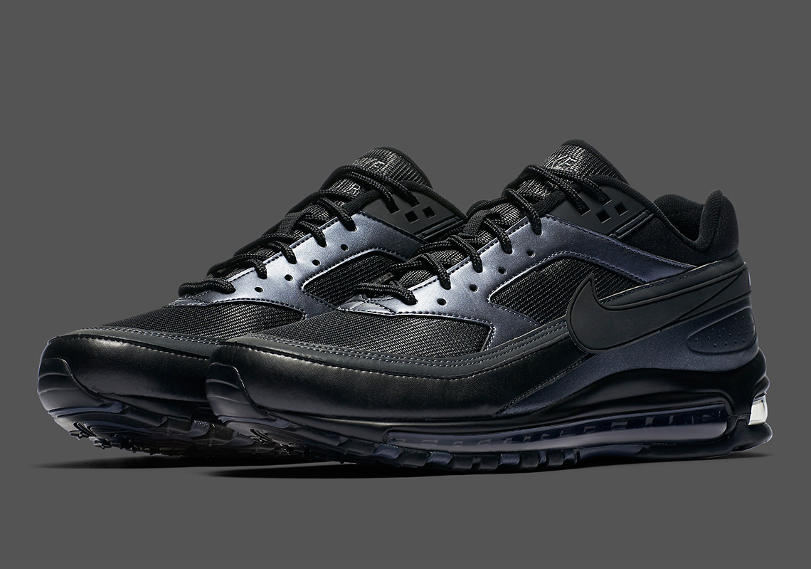 brand new e2317 be864 Skepta's Nike Air Max 97/BW Model is Dropping in a Black-on ...