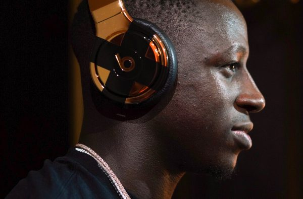 Beats by Dre Blessed Benjamin Mendy With a Pair of 24-Carat Headphones