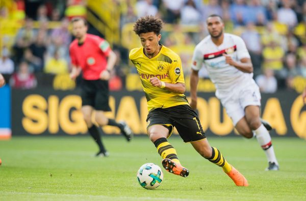 Jadon Sancho Made History in his Champions League Debut for Dortmund Last Night