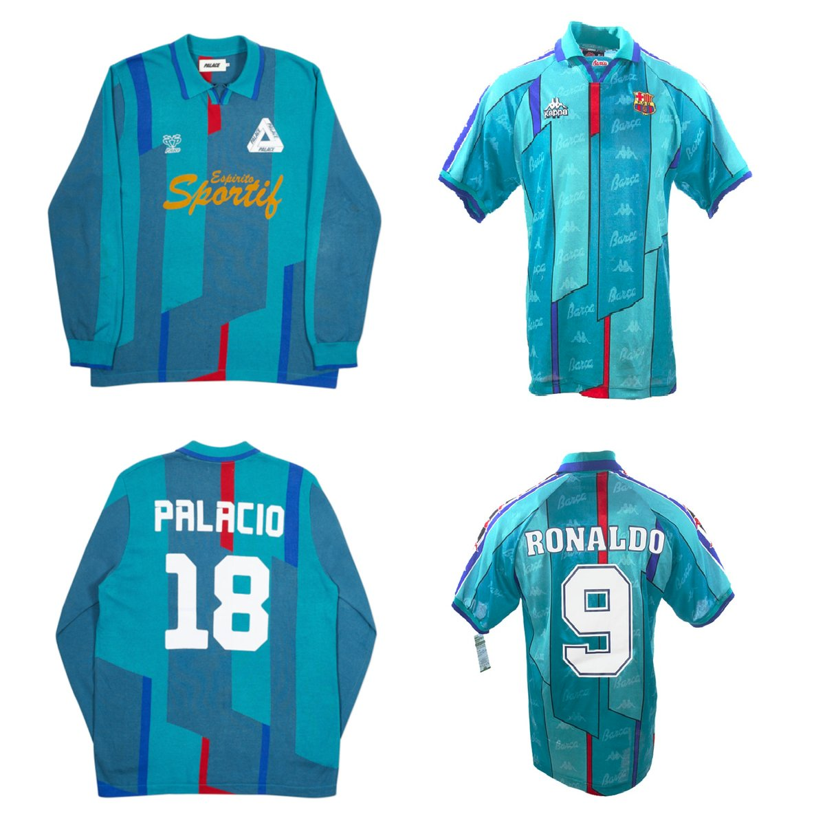 Palace Redesigned Barca's 1995 Away Jersey for their Autumn 2018 Range