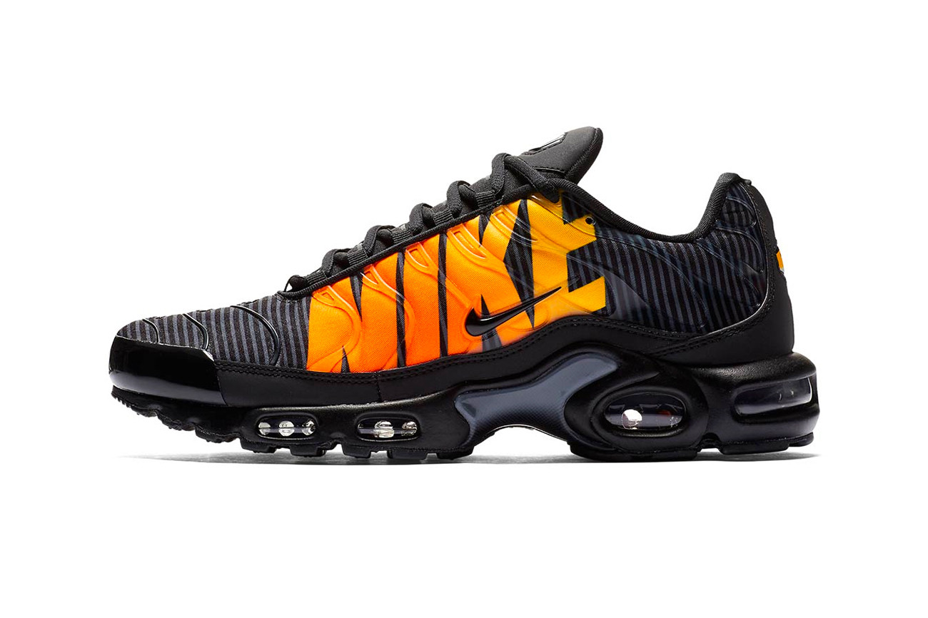 "cheap for discount e260c 895d4 Nike's Air Max Plus Gets a Fire ""Mercurial"" Logo Makeover"