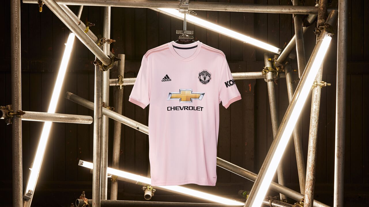 8ac5c9ec7c8e4 Image via adidas. adidas have just launched Manchester United's first-ever  pink away kit.