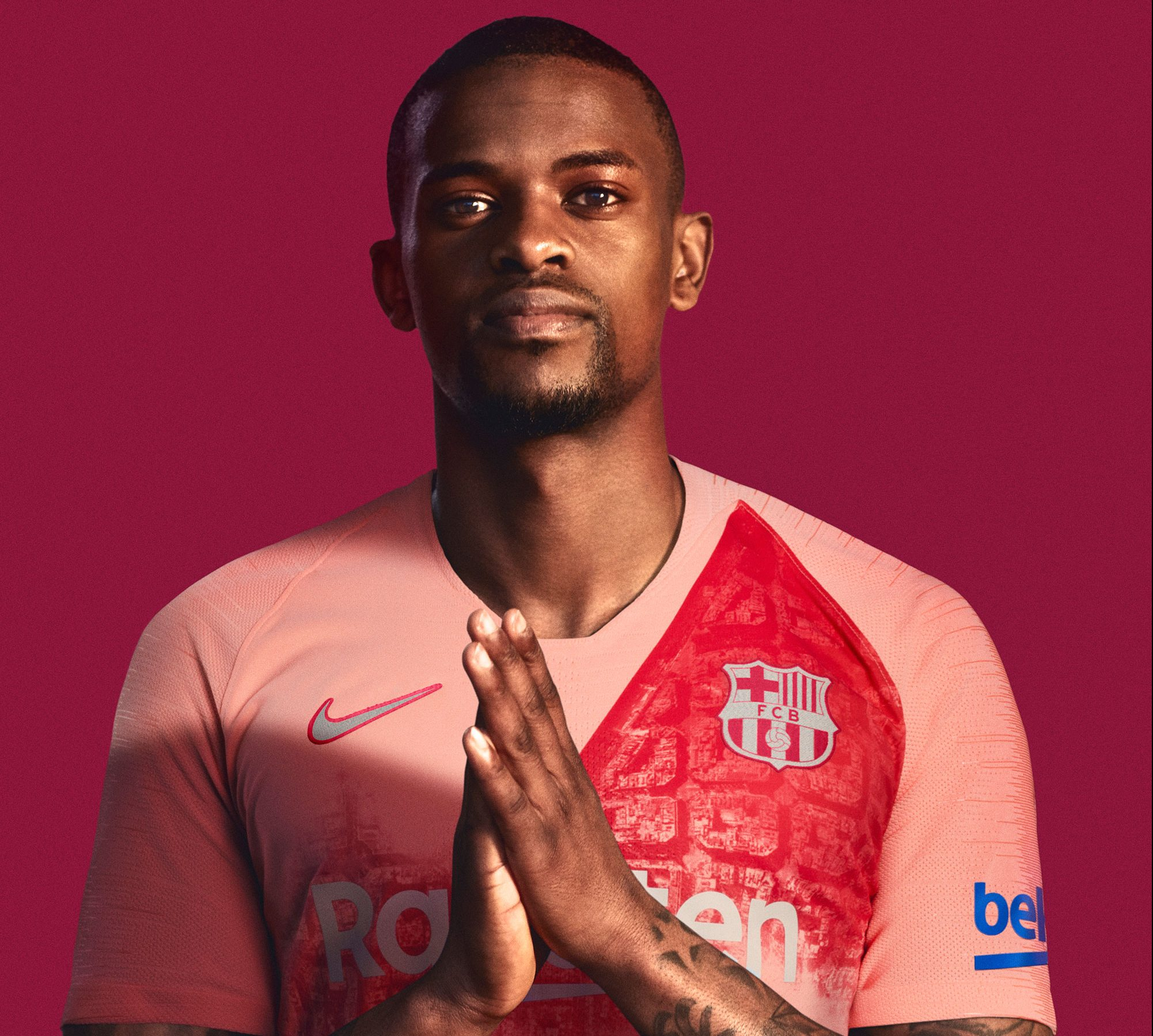 c14be0d32 Nike and Barcelona s 2018-19 Third Kit Gets Painted in Pale Pink