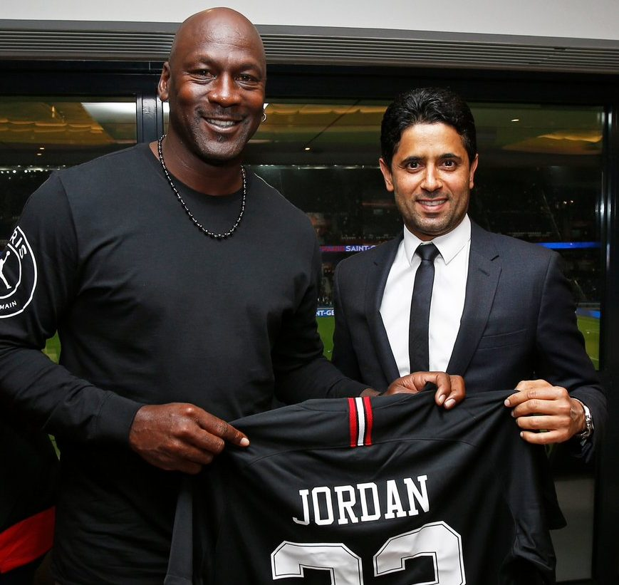 d7c84445e Michael Jordan Went to His First PSG Game Last Night and Wore the Jordan x  PSG Collection