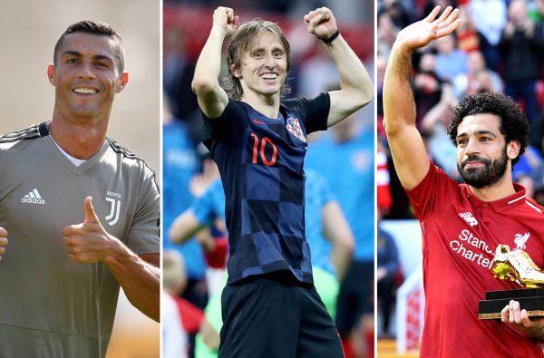 Cristiano Ronaldo, Luka Modric and Mo Salah Nominated for FIFA Best Men's Player Award