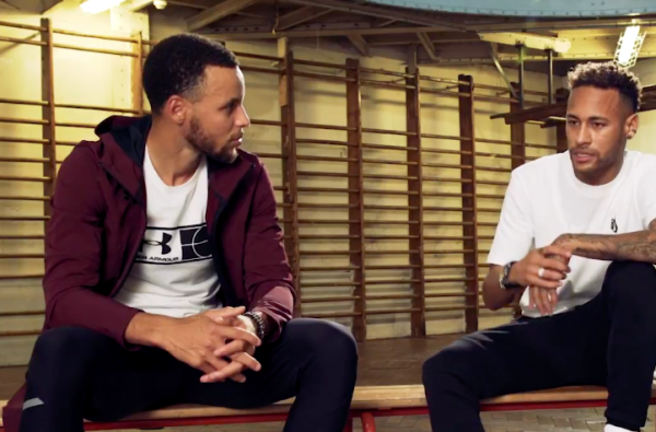 Neymar Links Up with Steph Curry for new The Player's Tribune Interview