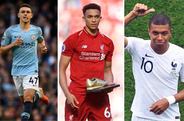 Phil Foden and Trent Alexander-Arnold Join Kylian Mbappé on the Latest Shortlist for Golden Boy 2018