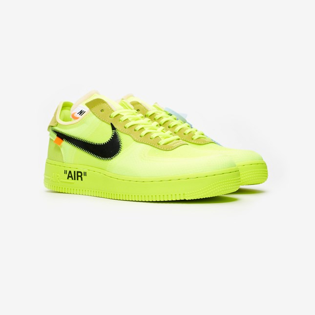 """7f69a3c47140f You can cop the """"Black Cone  and """"Volt"""" Off Wwite AF1 sneakers for £149  from the Nike Sneakrs app and SneakersNStuff on December 19th."""