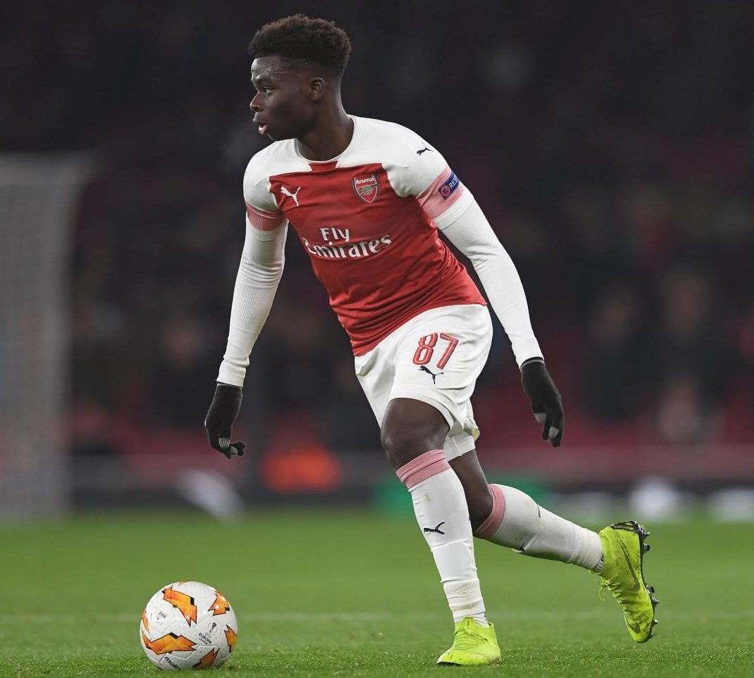 Bukayo Saka is the First Player Born in 2001 to Play in the