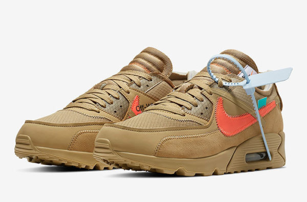 The Off-White x Nike Air Max 90 'Desert Ore' is Set to Drop Next Week