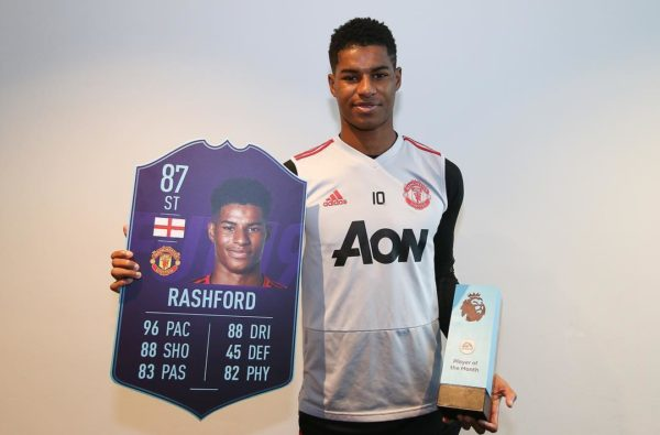 Marcus Rashford Receives a Charged Up 87 Card for Winning January's Premier League Player Of The Month
