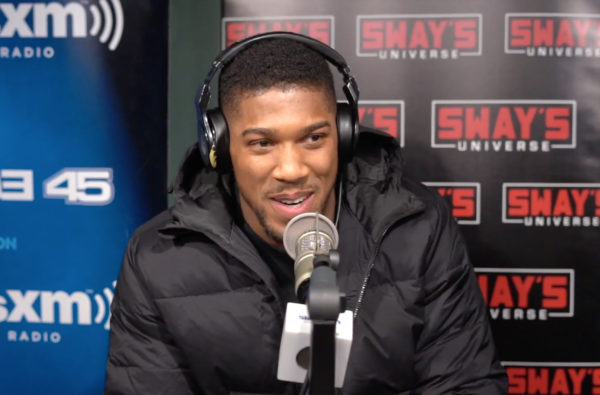 Anthony Joshua Stepped up to the Mic and Dropped a Freestyle During His Visit to Sway's Radio Show in NYC