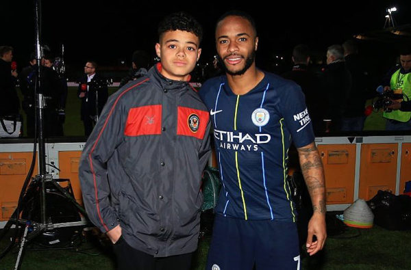 Raheem Sterling Met up With the Young Player He Sent a Letter to After He Was Racially Abused at School