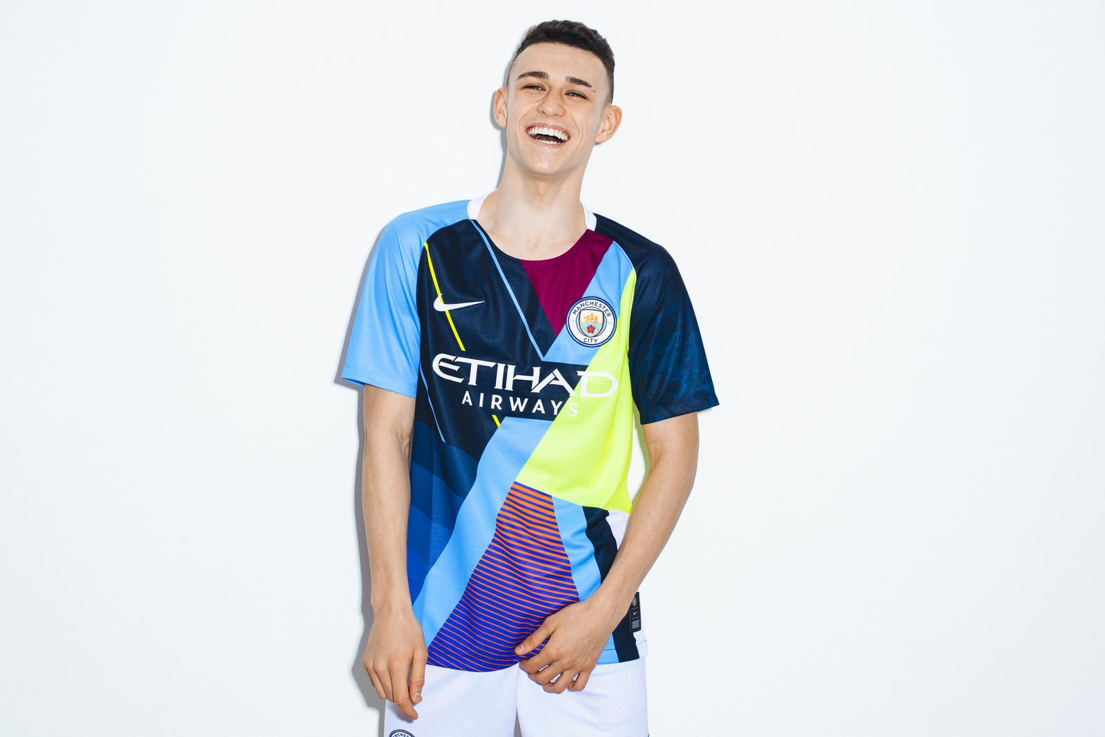 3a16ea9ee69 Image via Nike. Manchester City have just unveiled a new Nike mash-up jersey  to ...