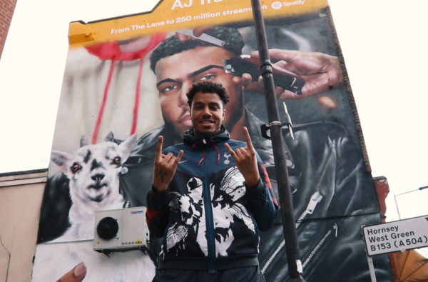 Spotify Blessed AJ Tracey with his Own Mural outside Spurs' New Stadium