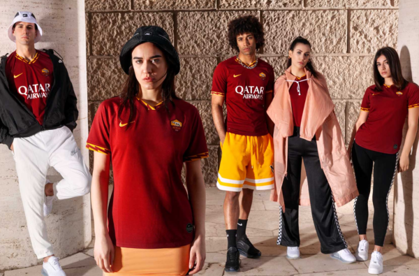 Nike Add Flashes of Lightning to AS Roma 2019-20's Home Kit