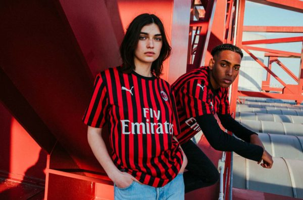 PUMA and AC Milan Bring Back Narrow Stripes for the Club's 2019/20 Home Shirt