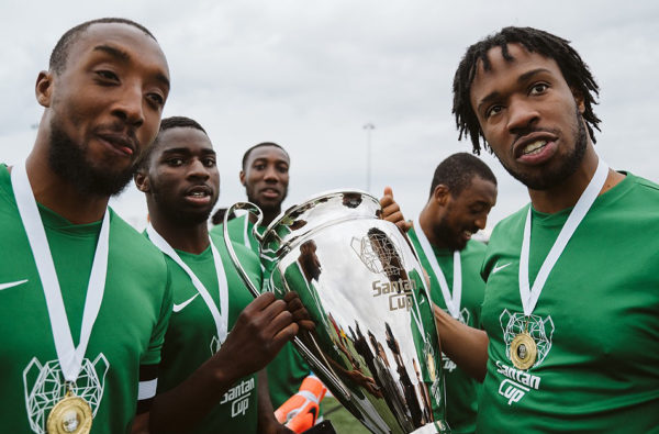 Dave and Some of UK Rap's Finest Played in His Third Santan Cup Football Tournament