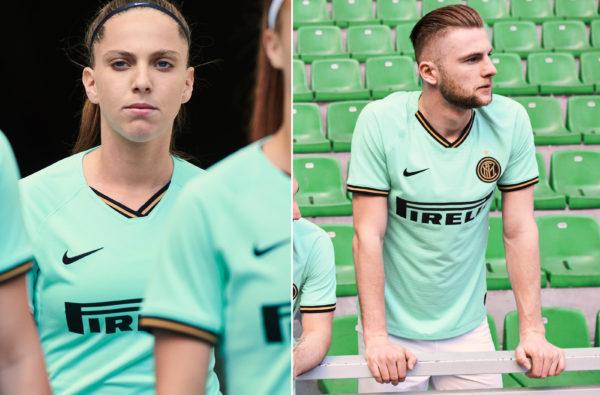 Nike Splash Inter Milan's 2019-20 Away Kit in Mint Fresh Aquamarine