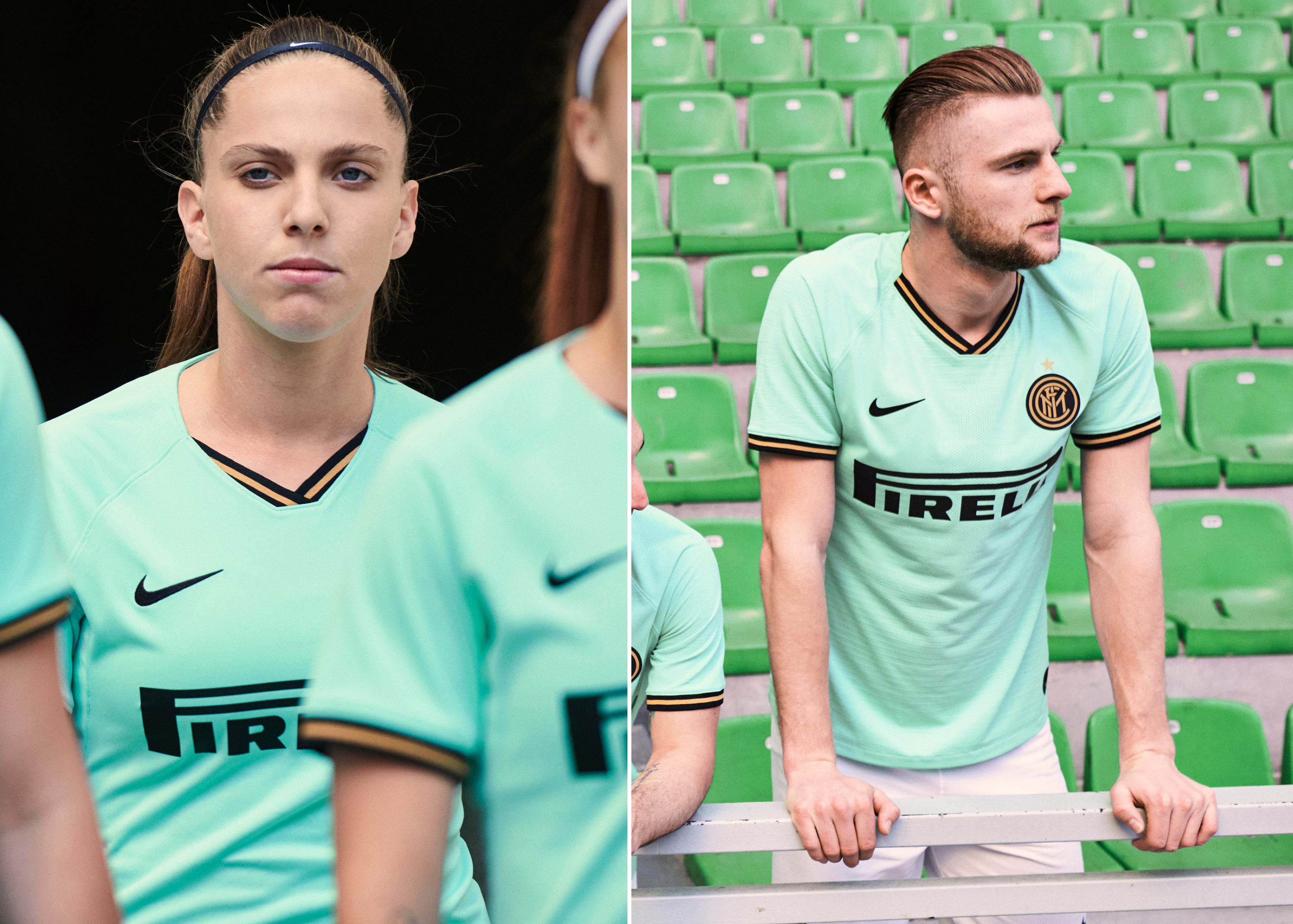 premium selection 57e2a 277c8 Nike Splash Inter Milan's 2019-20 Away Kit in Mint Fresh ...
