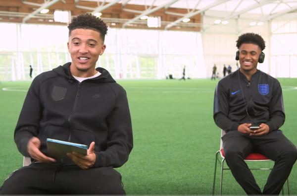 Jadon Sancho and Reiss Nelson Chop it Up in New 'Friendship Test' Quiz
