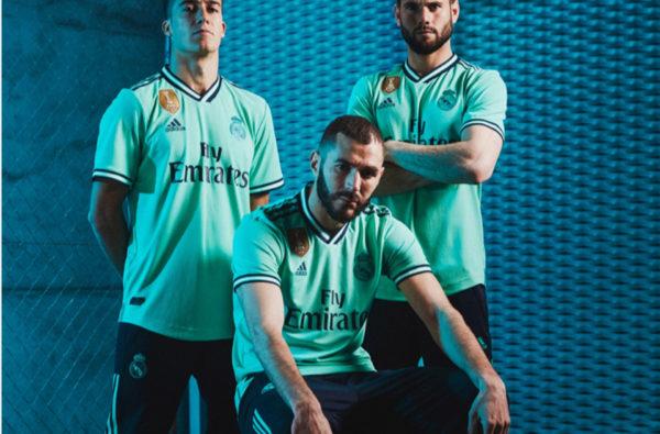 adidas Unveil Real Madrid's Aquamarine Third Shirt for the 2019/20 Season