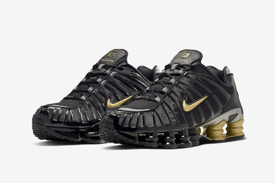 info pour 765e5 2e179 Neymar's Next Nike Shox Model is Dripped Down in Black and Gold