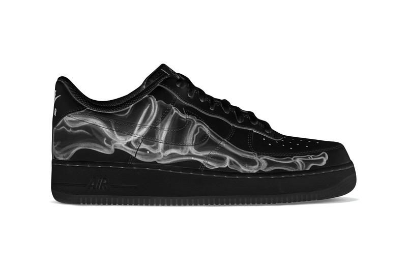 The Nike Air Force 1 'Skeleton' Gets Murdered Out in Time