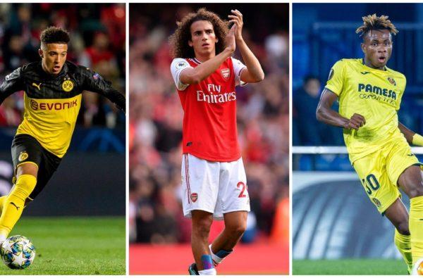Jadon Sancho, Matteo Guendouzi and Samuel Chukwueze Make 10-Man Kopa Trophy Nominees
