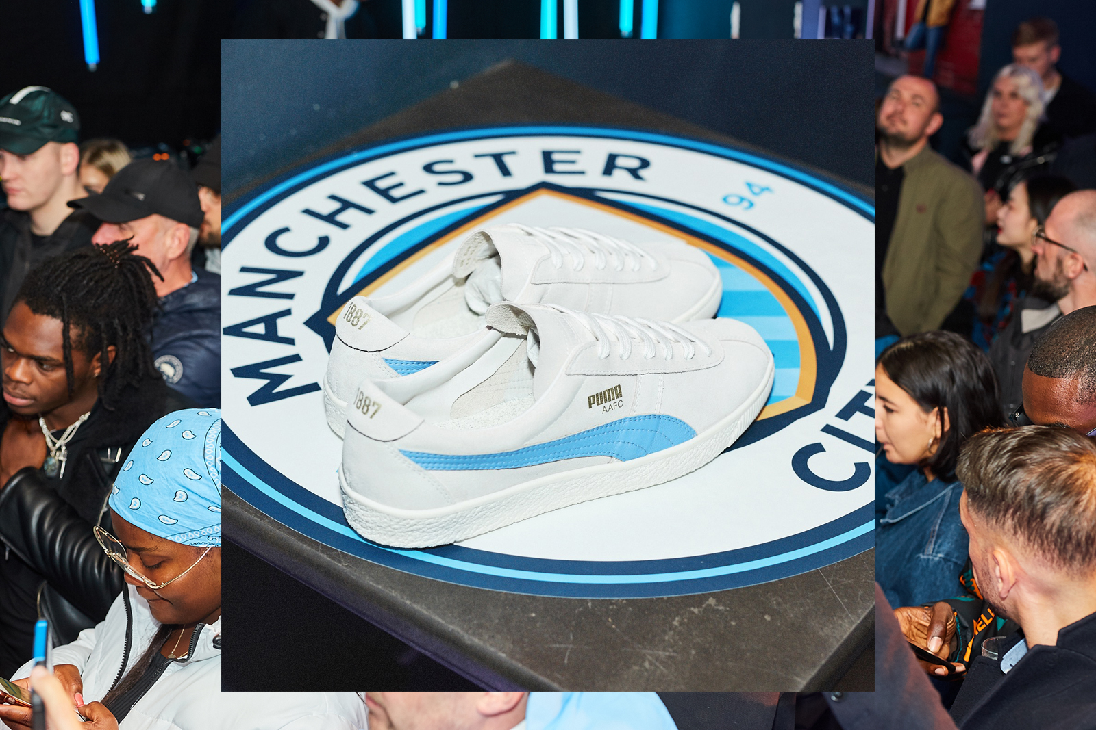 PUMA Shut Down Manchester to Launch the New MCFC Sneaker Pack with size?