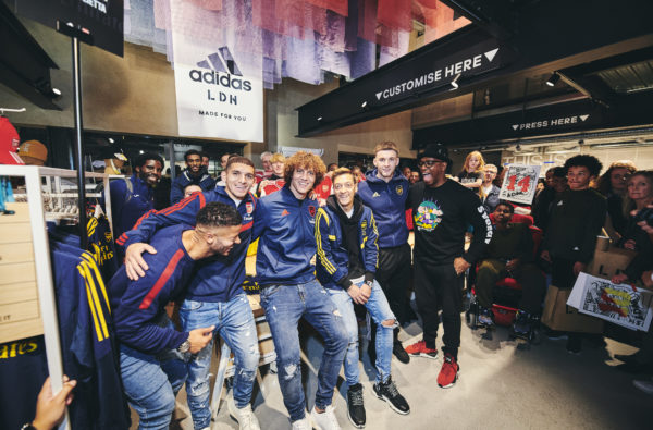 Arsenal Stars Roll Through to adidas LDN To Surprise Fans at MakerLab Event