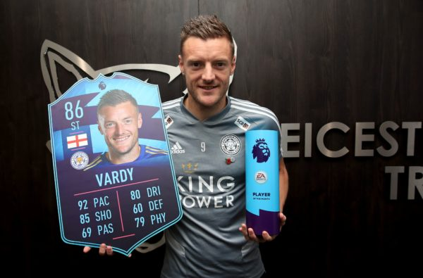 Jamie Vardy Scoops October's Premier League POTM and Receives 86-Rated In-Form